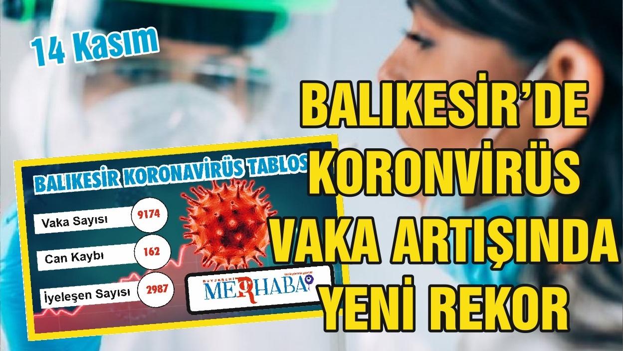 Balıkesir'de 14 Kasım Koronavirüs Tablosu
