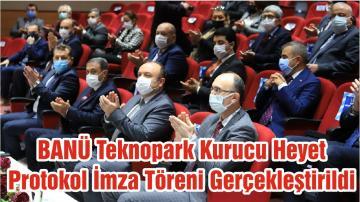 BANÜ Teknopark Kurucu Heyet Protokol İmza Töreni Gerçekleştirildi
