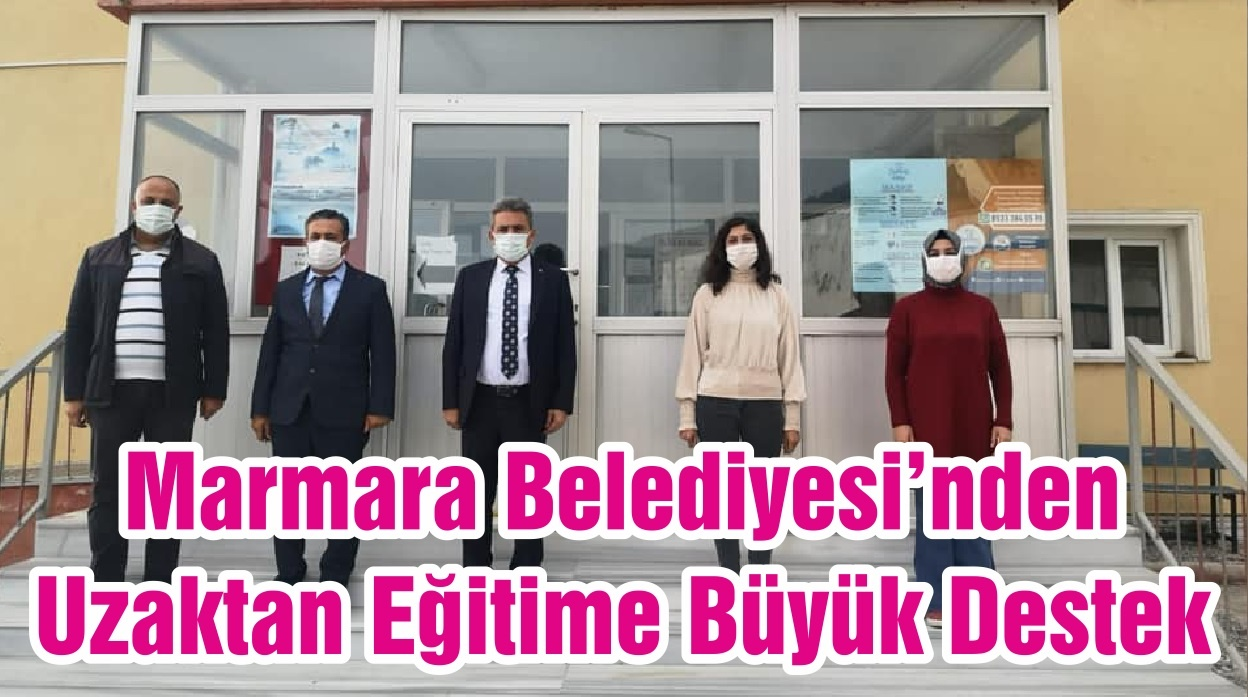 Marmara Belediyesi'nden Uzaktan Eğitime Büyük Destek