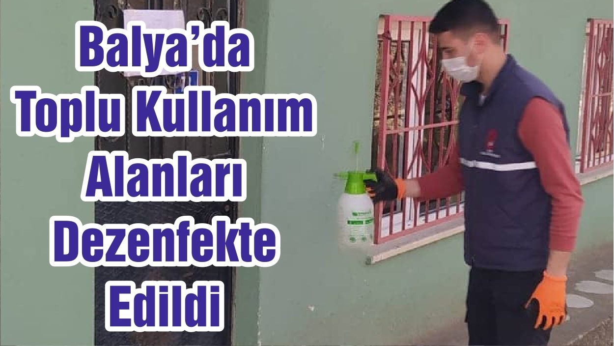 Balya'da Toplu Kullanım Alanları Dezenfekte Edildi