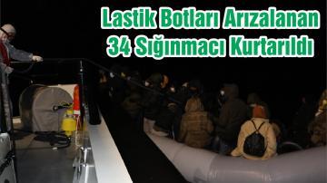 Lastik Botları Arızalanan 34 Sığınmacı Kurtarıldı