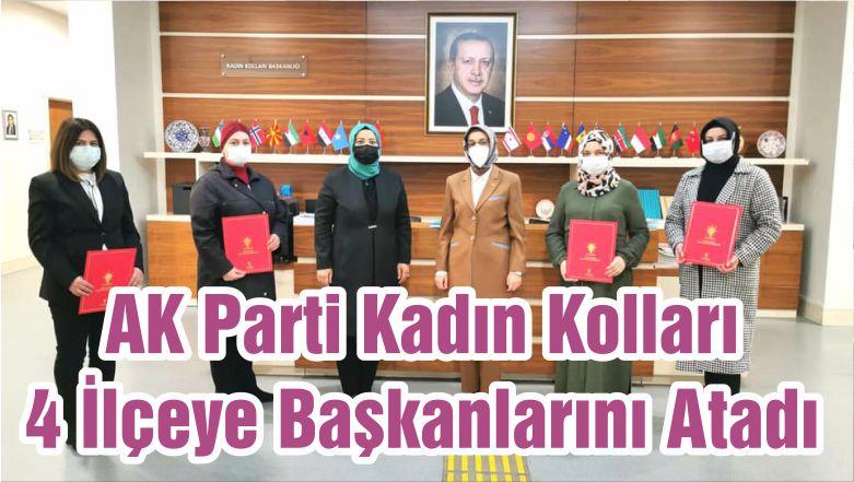 AK Parti Kadın Kolları 4 İlçeye Başkanlarını Atadı