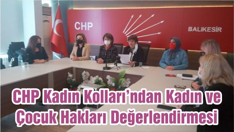 CHP Kadın Kolları'ndan Kadın ve Çocuk Hakları Değerlendirmesi
