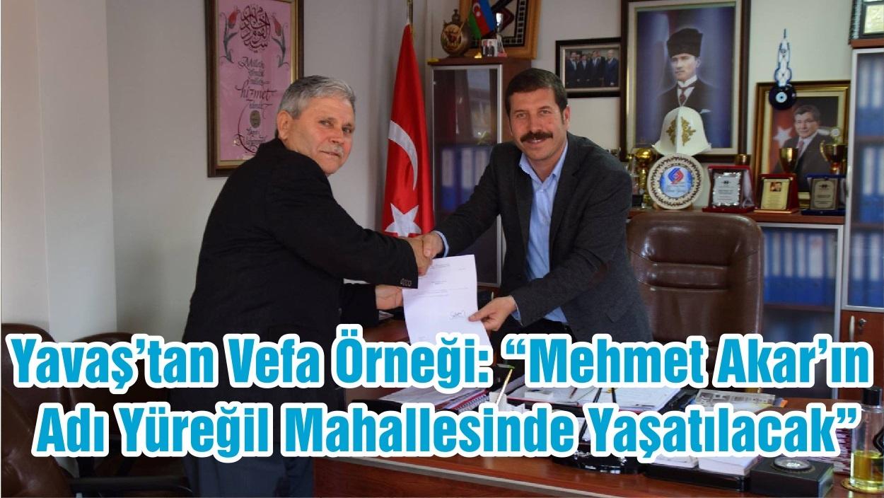 """Başkan Yavaş'tan Vefa Örneği: """"Mehmet Akar'ın Adı Yüreğil Mahallesinde Yaşatılacak """""""