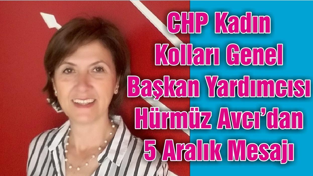 CHP Kadın Kolları Genel Başkan Yardımcısı Hürmüz Avcı'dan 5 Aralık Mesajı