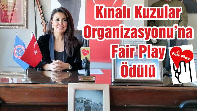 Kınalı Kuzular Organizasyonu'na Fair Play Ödülü