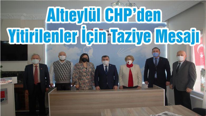 Altıeylül CHP'den Yitirilenler İçin Taziye Mesajı