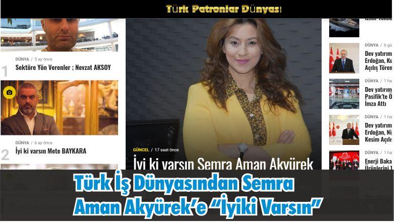 """Türk İş Dünyası Semra Aman Akyürek'e """"İyi Ki Varsın"""" Dedi"""