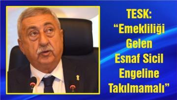 """TESK: """"Emekliliği Gelen Esnaf Sicil Engeline Takılmamalı"""""""