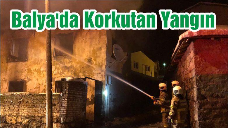 Balya'da Korkutan Yangın
