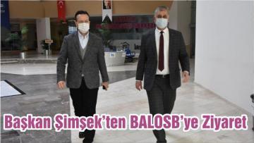 Başkan Şimşek'ten BALOSB'ye Ziyaret