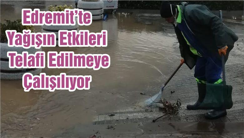 Edremit'te Yağışın Etkileri Telafi Edilmeye Çalışılıyor