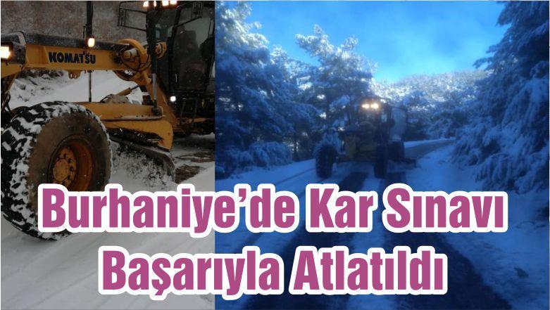 Burhaniye'de Kar Sınavı Başarıyla Atlatıldı