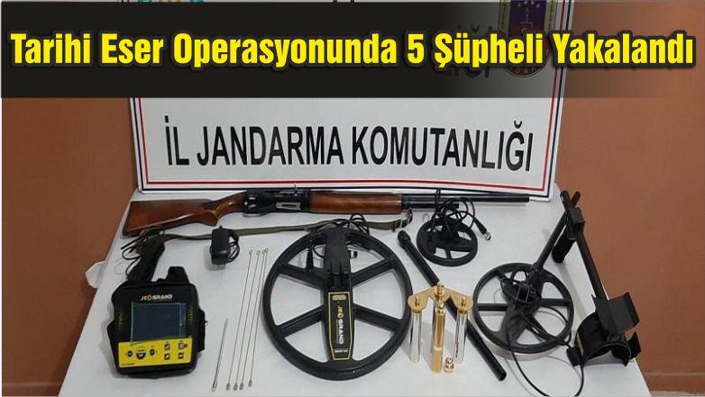 Tarihi Eser Kaçakçılığı Operasyonunda 5 Şüpheli Yakalandı