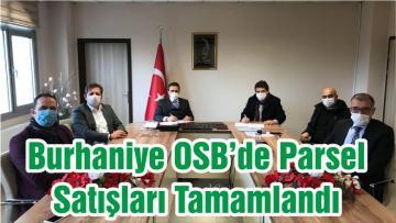 Burhaniye OSB'de Parsel Satışları Tamamlandı