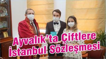 Ayvalık'ta Çiftlere İstanbul Sözleşmesi