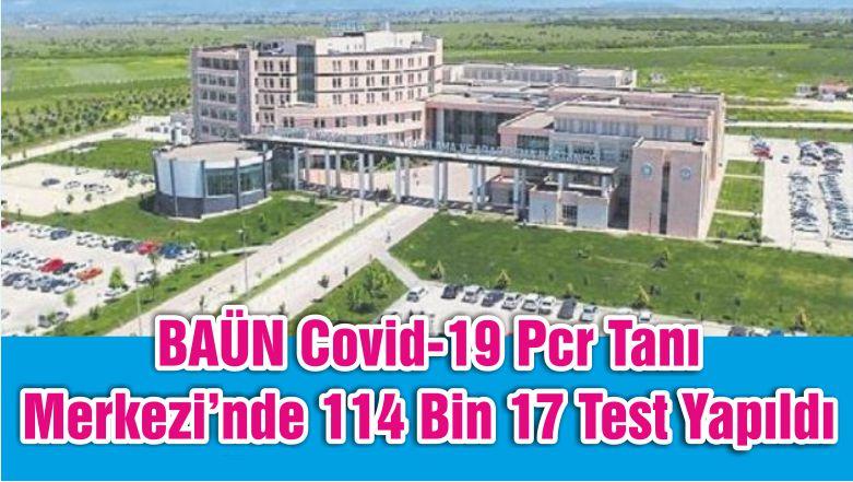 BAÜN Covid-19 Pcr Tanı Merkezi'nde 114 Bin 17 Test Yapıldı