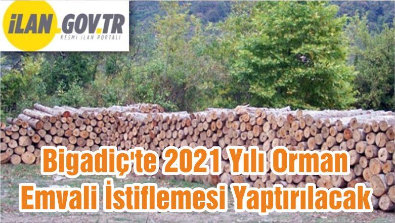 Bigadiç'te 2021 Yılı Orman Emvali İstiflemesi Yaptırılacak