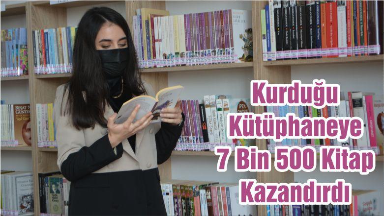 Kurduğu Kütüphaneye 7 Bin 500 Kitap Kazandırdı