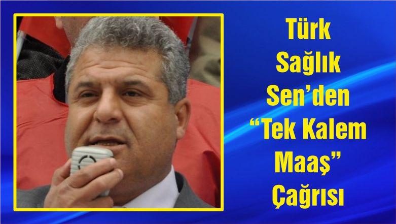 """Türk Sağlık Sen'den """"Tek Kalem Maaş"""" Çağrısı"""