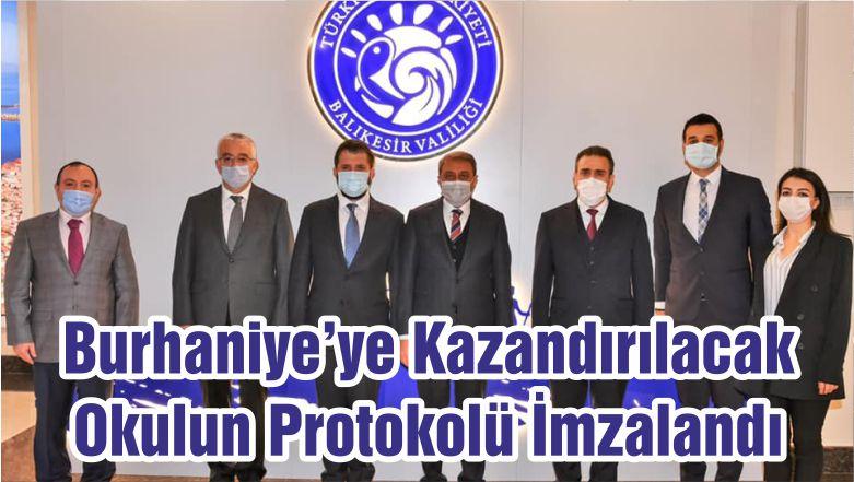 Burhaniye'ye Kazandırılacak Okulun Protokolü İmzalandı