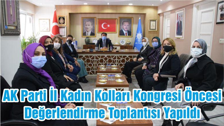 AK Parti İl Kadın Kolları Kongresi Öncesi Değerlendirme Toplantısı Yapıldı