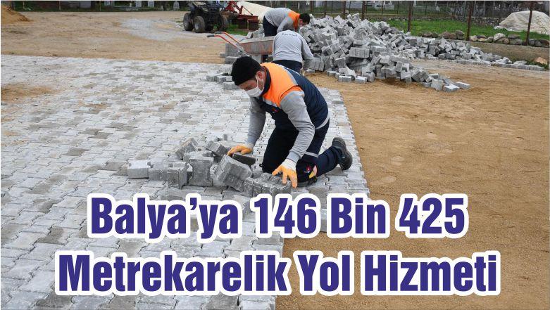 Balya'ya 146 Bin 425 Metrekarelik Yol Hizmeti