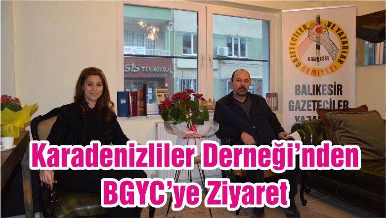 Karadenizliler Derneği'nden BGYC'ye Ziyaret