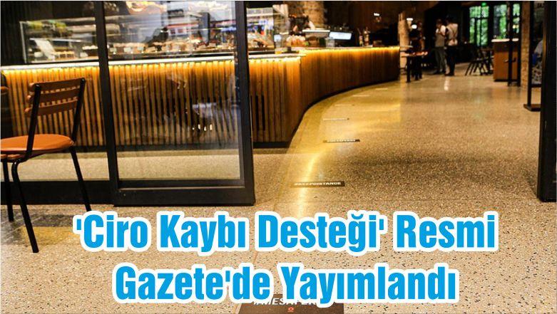 'Ciro Kaybı Desteği' Resmi Gazete'de Yayımlandı