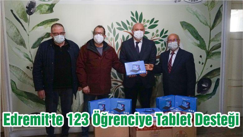 Edremit'te 123 Öğrenciye Tablet Desteği