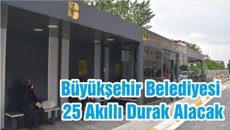 Büyükşehir Belediyesi 25 Akıllı Durak Alacak