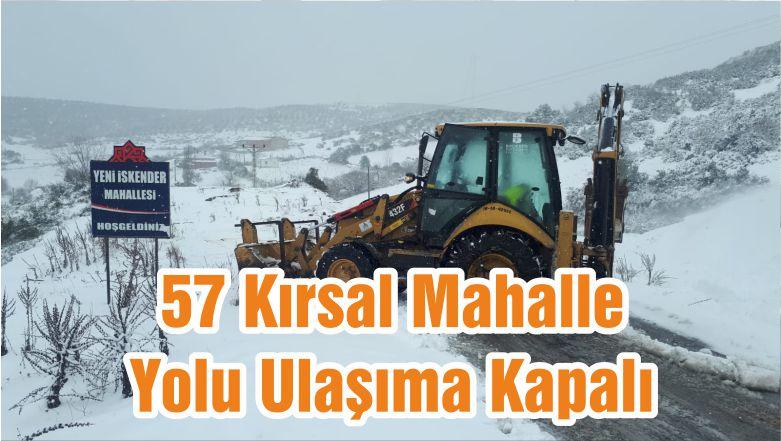 57 Kırsal Mahalle Yolu Ulaşıma Kapalı