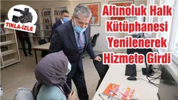 Altınoluk Halk Kütüphanesi Yenilenerek Hizmete Girdi
