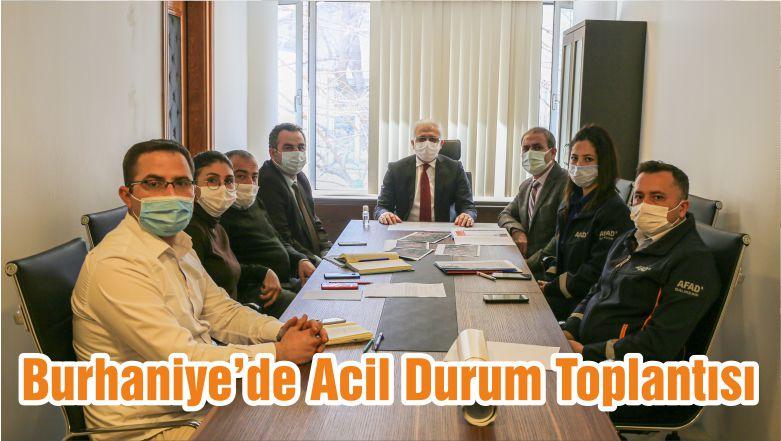 Burhaniye'de Acil Durum Toplantısı