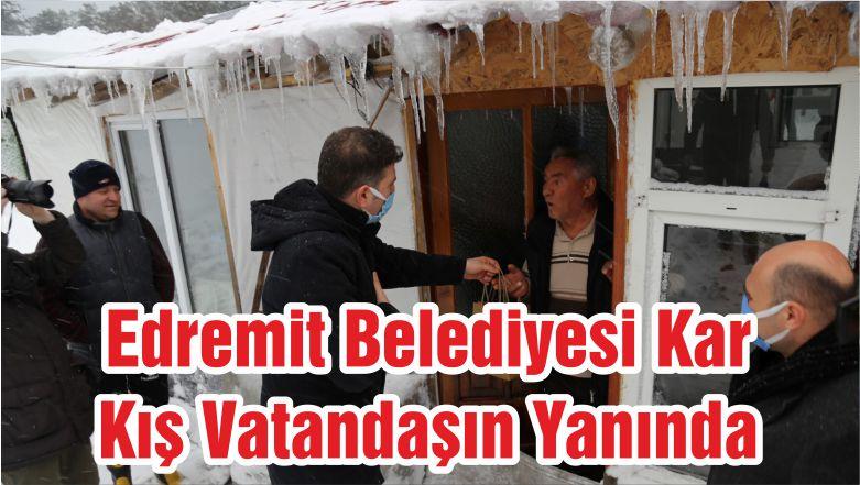 Edremit Belediyesi Kar Kış Vatandaşın Yanında