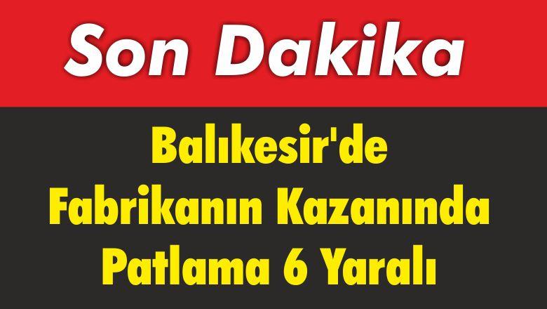 Balıkesir'de Fabrikanın Kazanında Patlama 6 Yaralı