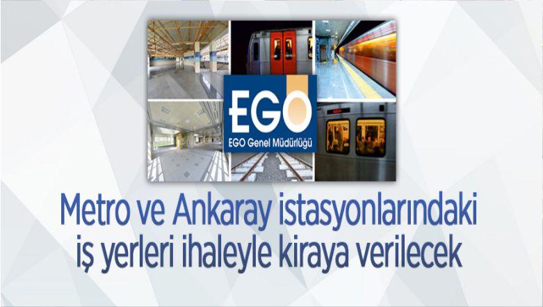 Metro Ve Ankaray İstasyonlarında Bulunan İş Yerleri İhaleyle Kiraya Verilecek