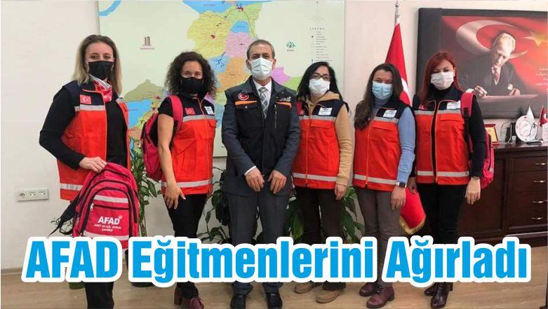 AFAD Eğitmenlerini Ağırladı