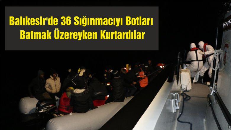 36 Sığınmacıyı Botları Batmak Üzereyken Kurtardılar