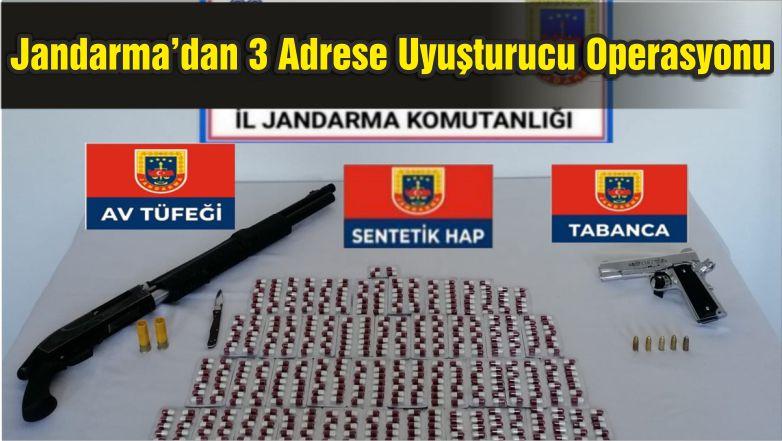 Jandarma'dan 3 Adrese Uyuşturucu Operasyonu