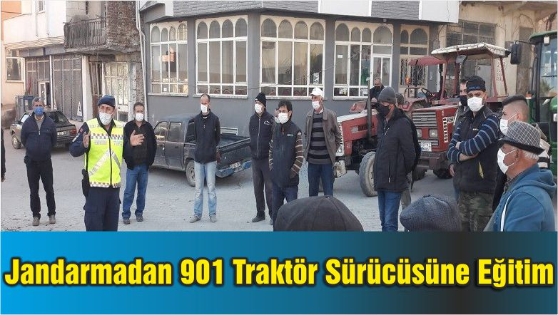 Jandarmadan 901 Traktör Sürücüsüne Eğitim