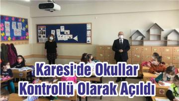 Karesi'de Okullar Kontrollü Açıldı