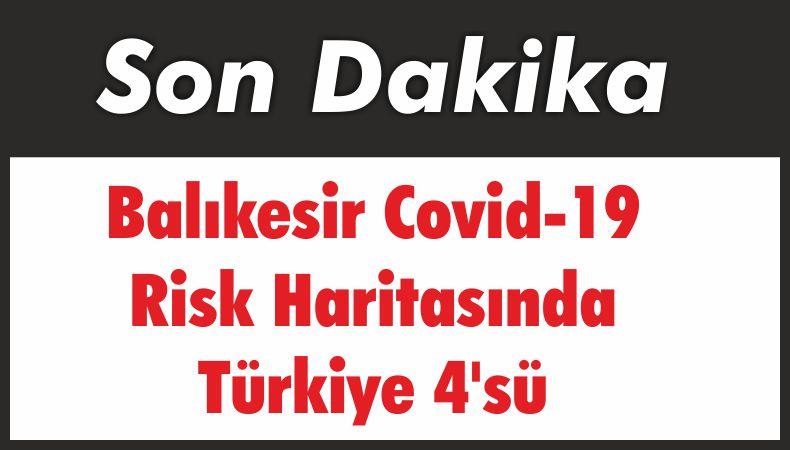 Balıkesir Covid-19 Risk Haritasında Türkiye 4'sü