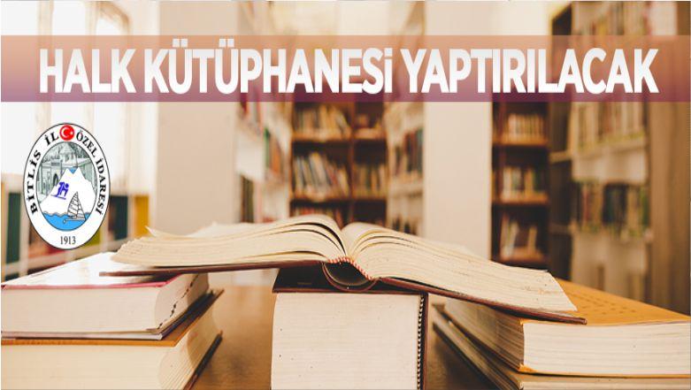 Bitlis'te Halk Kütüphanesi İnşaatı Yaptırılacak