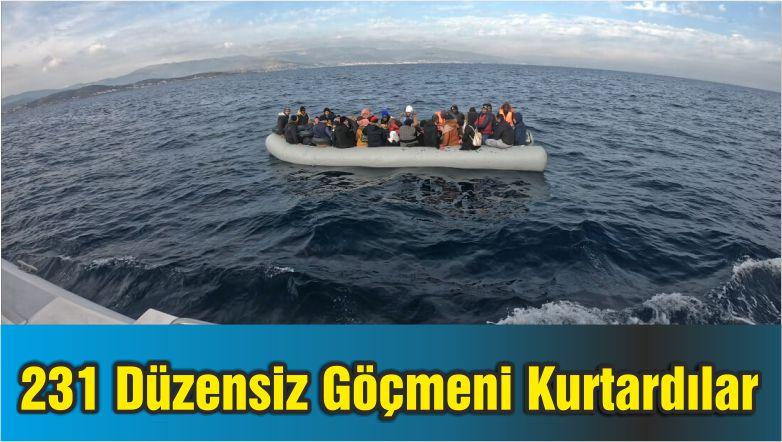 231 Düzensiz Göçmeni Kurtardılar