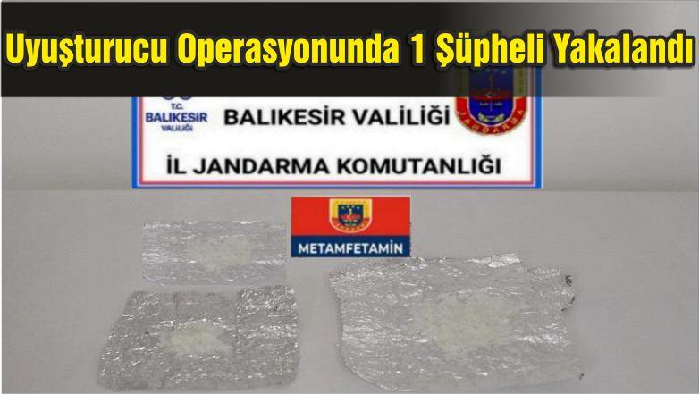 Balıkesir'de Uyuşturucu Operasyonunda 1 Şüpheli Yakalandı