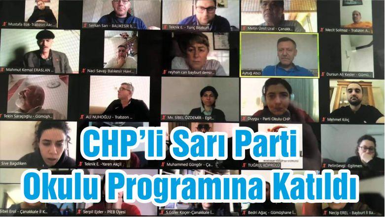 CHP'li Sarı Parti Okulu Programına Katıldı