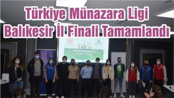 Türkiye Münazara Ligi Balıkesir İl Finali Tamamlandı