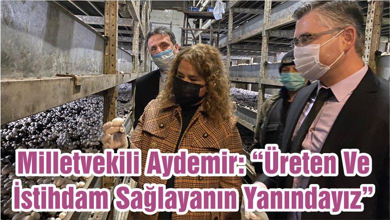 """Milletvekili Aydemir: """"Üreten Ve İstihdam Sağlayanın Yanındayız"""""""