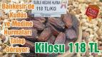 Balıkesir'de Kudüs ve Medine Hurmaları Talep Görüyor: Kilosu 118 TL